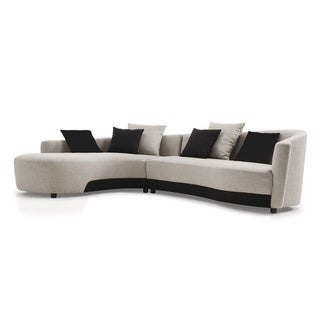 Modern 2-tone Left-facing Sectional