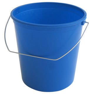 2.5-quart Blue Plastic Bucket (Pack of 12)