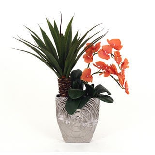 29-inch Coastal Allure Silk Orchid Arrangement