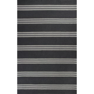 Hand-tufted Christopher Knight Home Charcoal/ Grey Stripe Wool Area Rug (3'3 x 5'3)