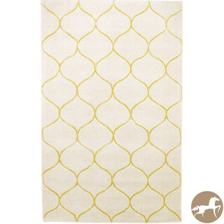 Hand-tufted Christopher Knight Home Ivory Harmony Area Rug (8' x 10')