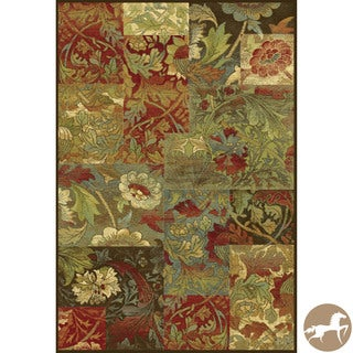 Christopher Knight Home Mocha Flora Area Rug (7'10 x 11'2)