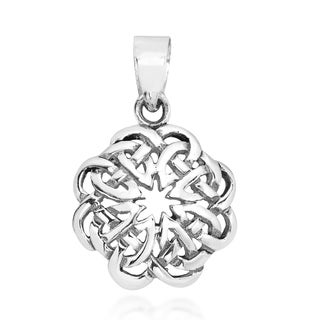 Eternal Celtic Heart Knot Sterling Silver Pendant (Thailand)