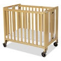 Foundations HideAway Compact Clearview Solid Wood Folding Crib