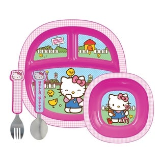 Munchkin Toddler Dining Set in Hello Kitty