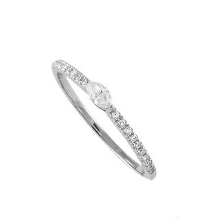 Beverly Hills Charm 14k Gold Marquise Diamond Stackable Band Ring (H-I, SI2-I1)