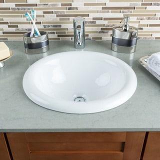 Nice  Compare Hahn Ceramic Medium Oval Bowl White Bathroom Sink Discount