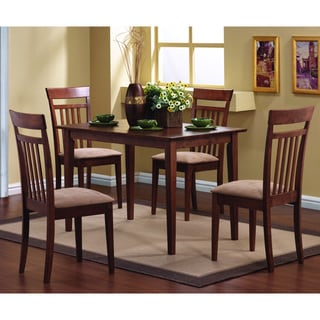 Warm Walnut 5-piece Dining Set