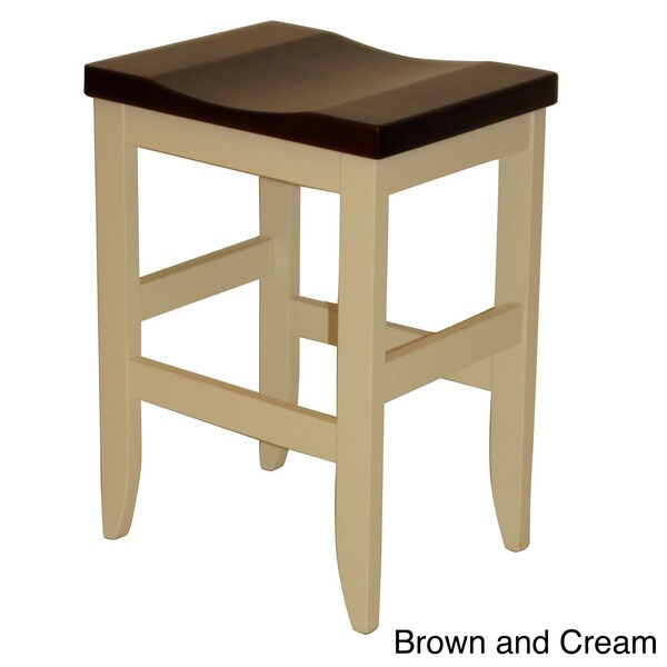Hand-crafted Amish Mission Brown Maple Barstool