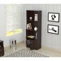 Espresso Bookcase and Cabinet