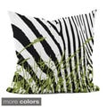 20x20-inch Animal/ Grass Print Decorative Throw Pillow