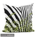 18x18-inch Animal/ Grass Print Decorative Throw Pillow