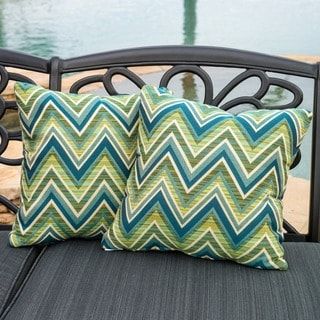 Christopher Knight Home Fischer Lagoon Outdoor Sunbrella Pillow (Set of 2)