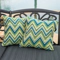 Christopher Knight Home Fischer Lagoon Blue/ Green Pillow (Set of 2)