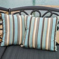 Christopher Knight Home 'Carnegie Celeste' 17-inch Striped Pillow (Set of 2)
