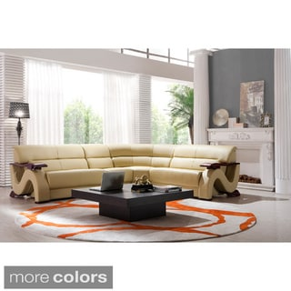 Lana Leather Sectional Sofa