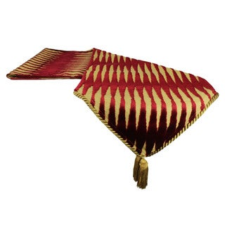 Sherry Kline Golden Gate Burgundy Luxury Table Runner