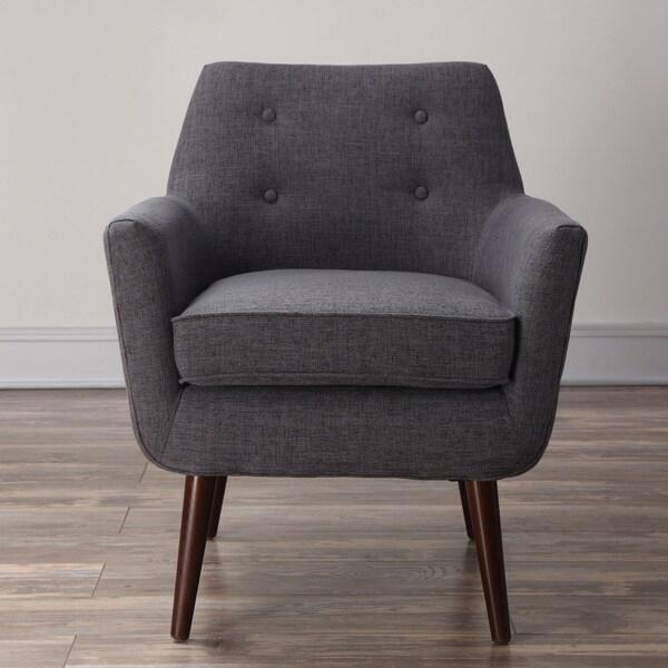 Clyde Grey Linen Chair