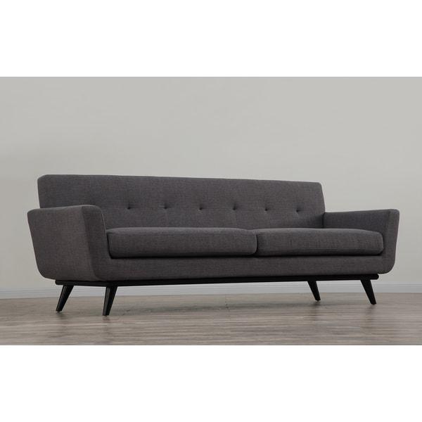 James Grey Linen Sofa