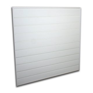Proslat White 16 square foot Heavy Duty Slatwall Organizer Panel