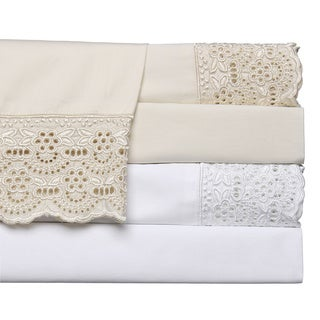 Cotton 400 Thread Count Lace Sheet Set