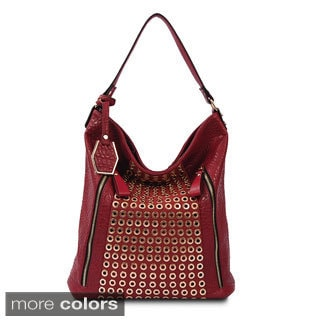 Via 'Sydney' Grommet Hardware Pebbled Shoulder Bag