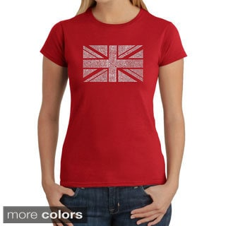 Los Angeles Pop Art Women's 'Union Jack' T-shirt