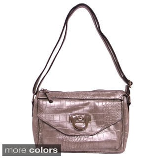 Bueno of California 'Vicki' Small Snake-embossed Crossbody Bag