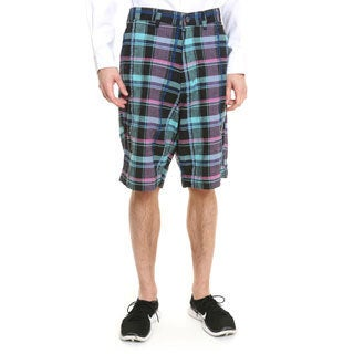 Men's Yarn-dyed Plaid Cotton Shorts