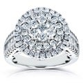 Annello 14k White Gold 1 1/2ct TDW Round Diamond Composite Ring (H-I, I1-I2)