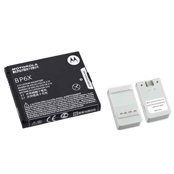 Insten Battery Desktop Charger with USB Output/ Motorola Rechargeable Standard OEM Battery BP6X SNN5843 for Motorola Droid 2