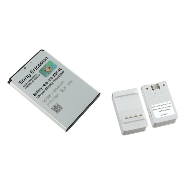 Insten Battery Desktop Charger with USB Output/ Sony Ericsson Standard OEM Battery for Sony Ericsson R800 Play/ X10 Xperia/ X1