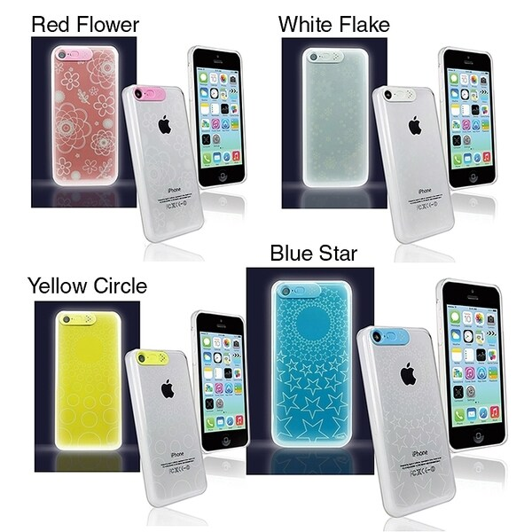 Van D LED Flashing Light up Hard Cover Case for Apple® iPhone 5C