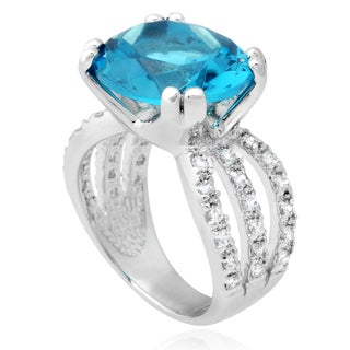 Journee Collection Sterling Silver Cubic Zirconia Cocktail Ring