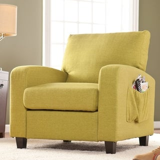 Upton Home Ashton Apple Green Upholstered Accent Arm Chair