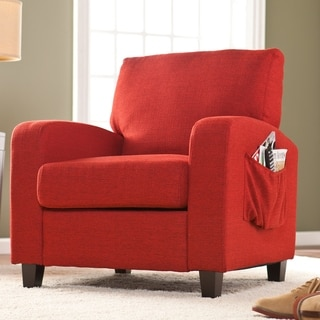 Upton Home 'Ashton' Cherry Red Upholstered Arm Chair