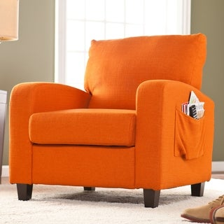 Upton Home 'Ashton' Orange Upholstered Arm Chair