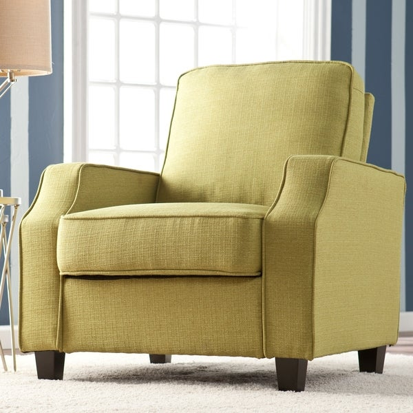 Upton Home 'Corey' Apple Green Upholstered Arm Chair