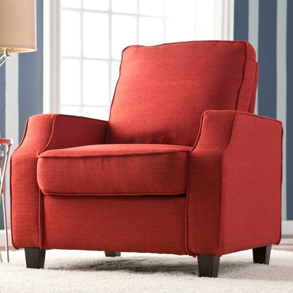 Upton Home 'Corey' Cherry Red Upholstered Arm Chair