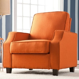 upton home corey orange upholstered accent arm chair