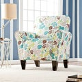 Upton Home 'Margo' Teal Floral Upholstered Arm Chair