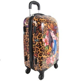 Nicole Lee Sandra Camel 21-inch Carry-on Hardside Spinner