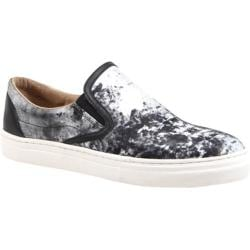 Women's Bronx Zee Row Black/White Satin Print/Nappa
