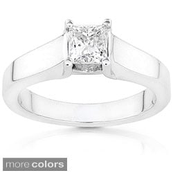 Annello 14k White Gold 5/8ct TDW Diamond Solitaire Ring (G-H/ I1-I2)