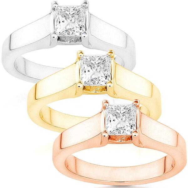 Annello 14k White Gold 5/8ct TDW Diamond Solitaire Ring (G-H/ I1-I2)