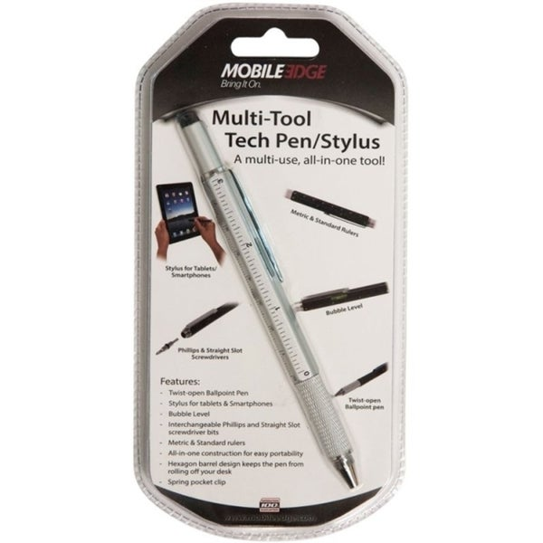 Mobile Edge Multi-Tool Tech Pen/Stylus (Silver)