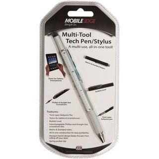 Mobile Edge Multi-Tool Tech Pen/Stylus (Silver)