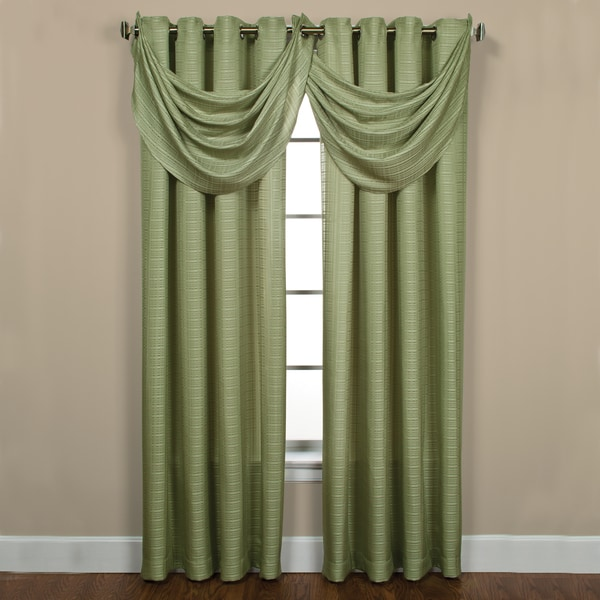 Sutton Grommet Celery Waterfall Valance