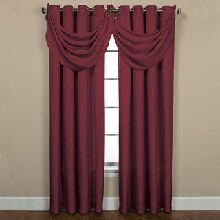 Sutton Grommet Bourdeaux Waterfall Valance