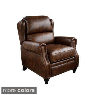 Aspen Bonded Leather Nail Head Accent Recliner